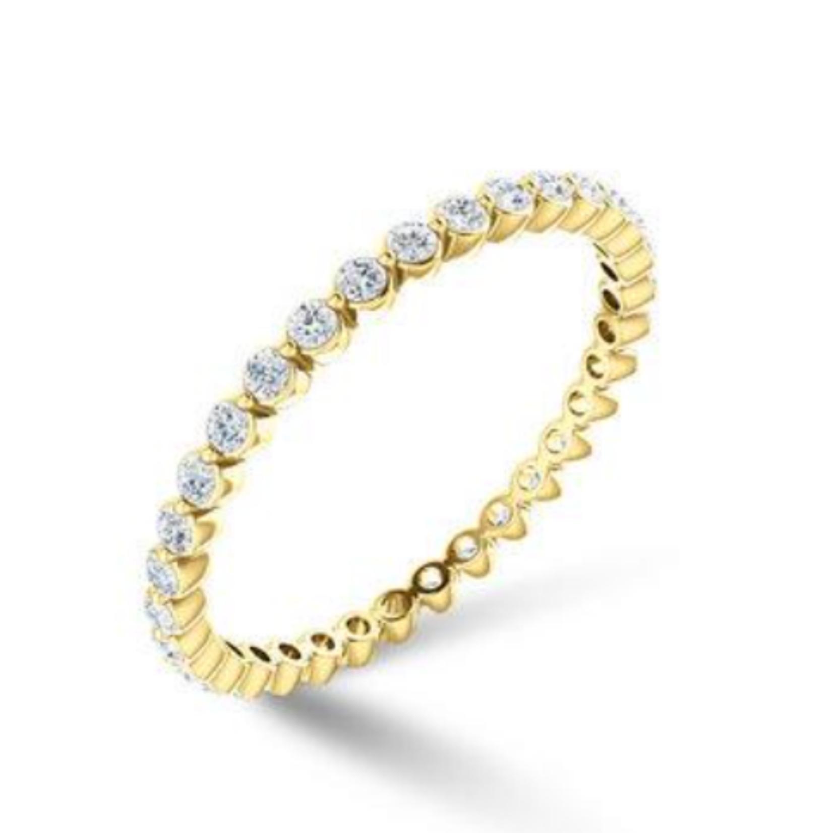 KBH Jewels Diamond Bezel Stack 14K Yellow Gold