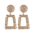 Wyld Blue Gold Textured Statement  Earrings