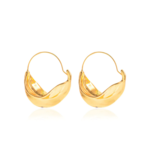 Wyld Blue Gold Twisted Mix Hoops