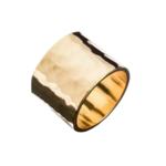 Hammered Cigar Band Ring