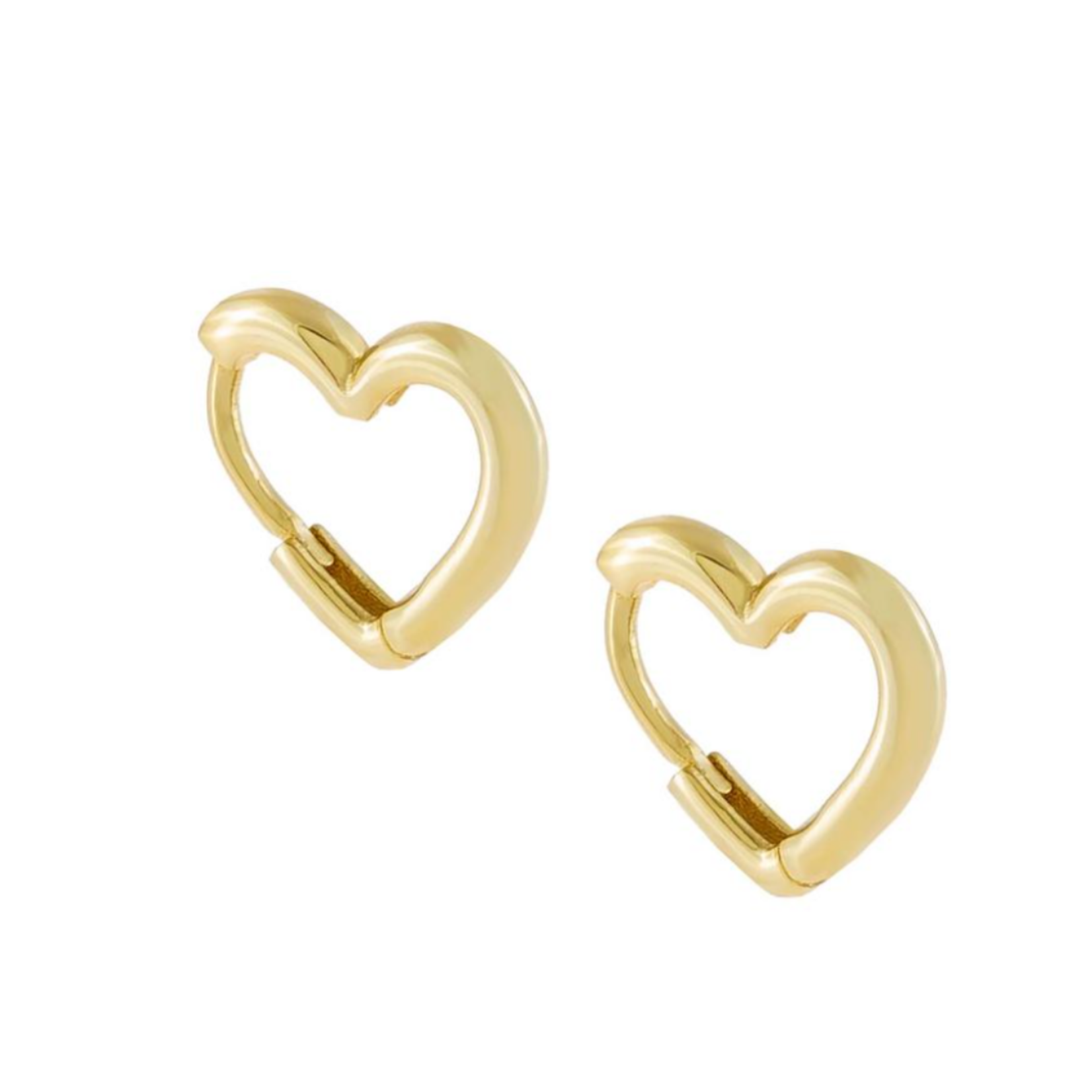 Adinas Mini Solid Heart Huggie Earrings