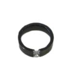 Black Enamel Crystal Ring - 6