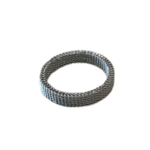 Wyld Blue Mesh Ring Silver