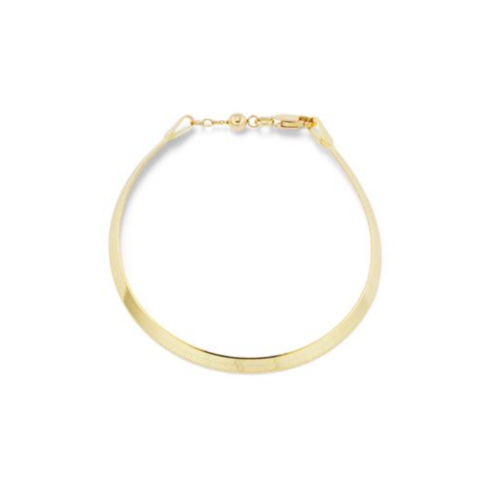 KBH Jewels Liquid Gold Herringbone Anklet