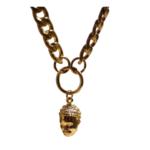 Hasta el Cogote Big Braid Palenqueras Face Necklace