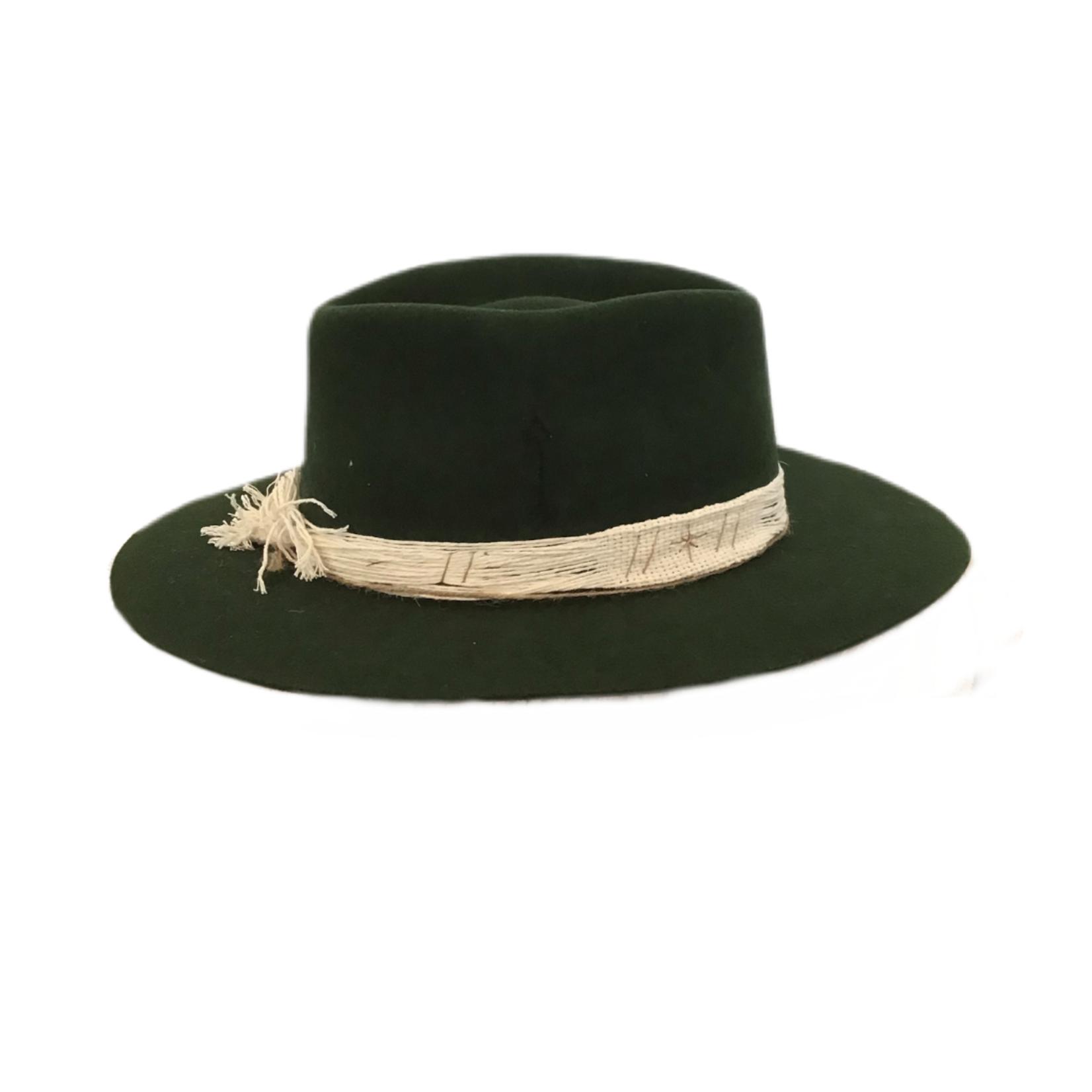 Tuluminati Rahui Hat Green Wool