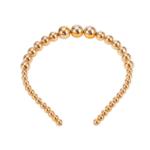 Wyld Blue Gold Bead Headband