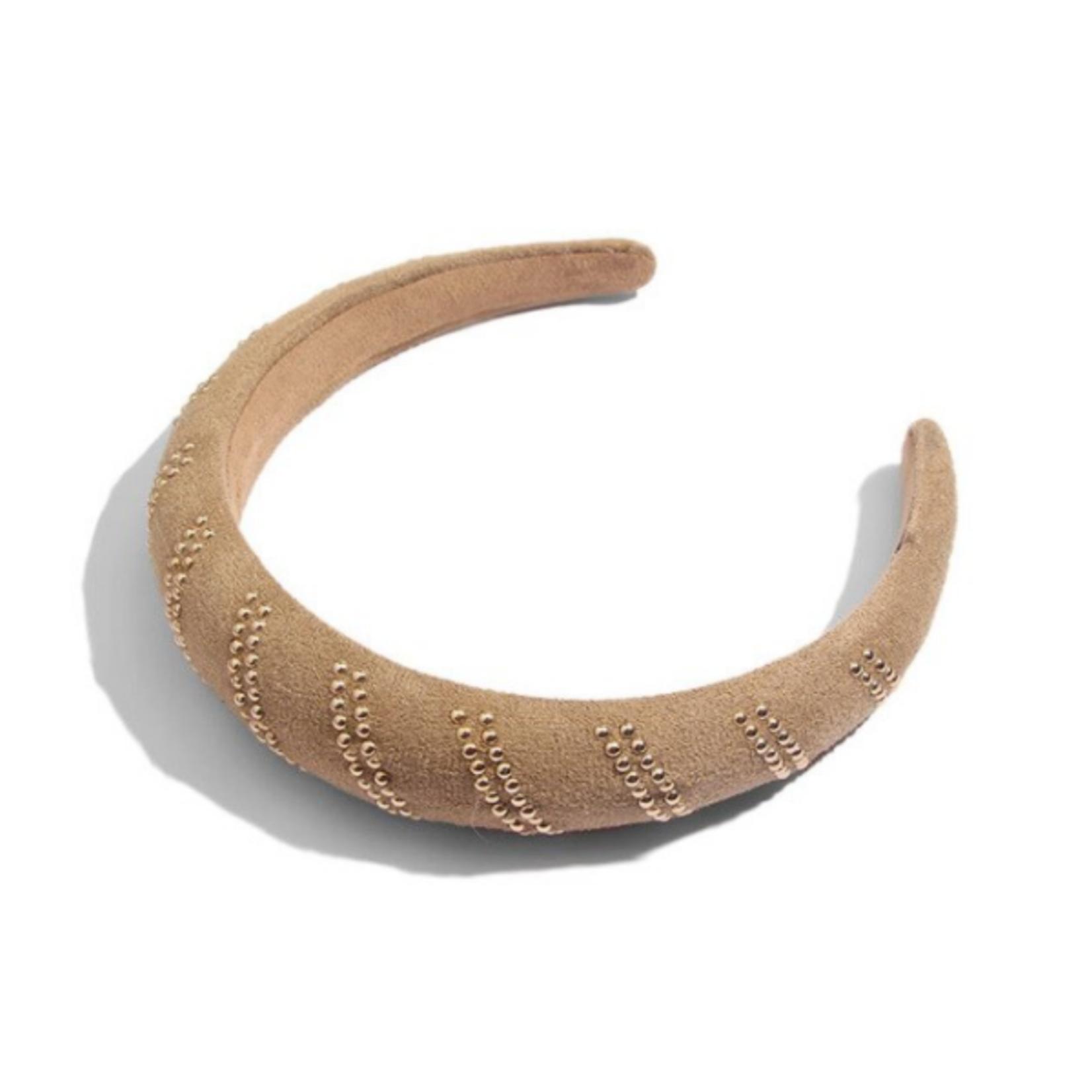 Wyld Blue Classic Headband Beige & Gold