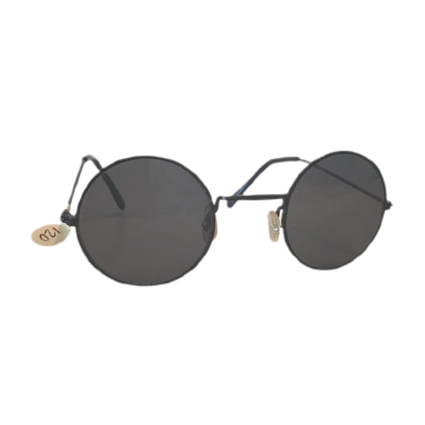 Wyld Blue Black circle sunglasses