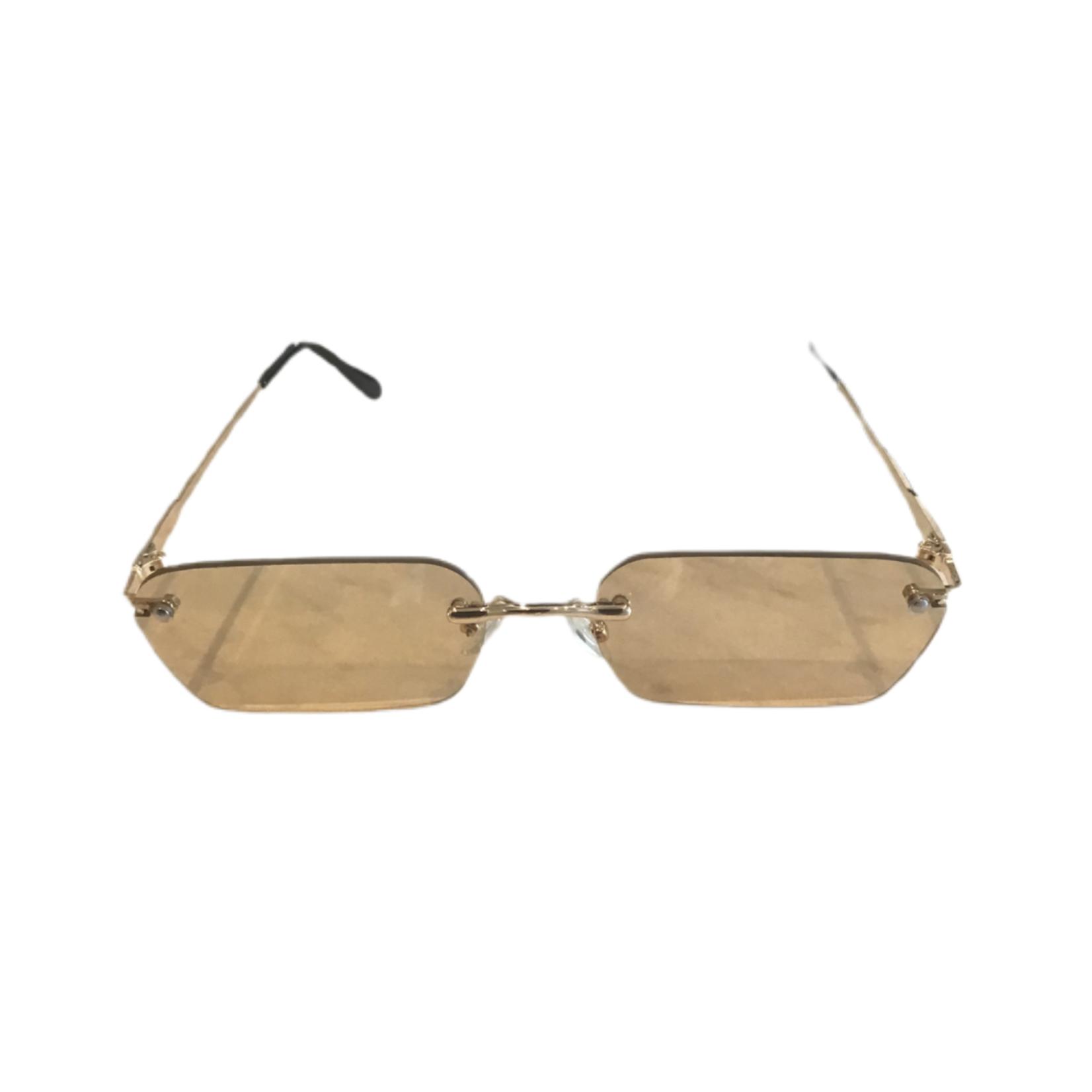 Wyld Blue Tan rectangle sunglasses
