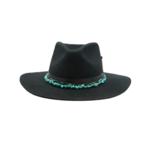 Tuluminati Imix Hat Black Wool w Turquoise Quartz