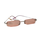 Wyld Blue Hot pink rectangle sunglasses