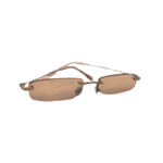 Wyld Blue Clear Pink Rectangle Sunglasses
