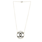 Wyld Blue Vintage Chanel Circle Pendant Chain Necklace