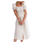 The Sleeper Marquise Linen Dress in White