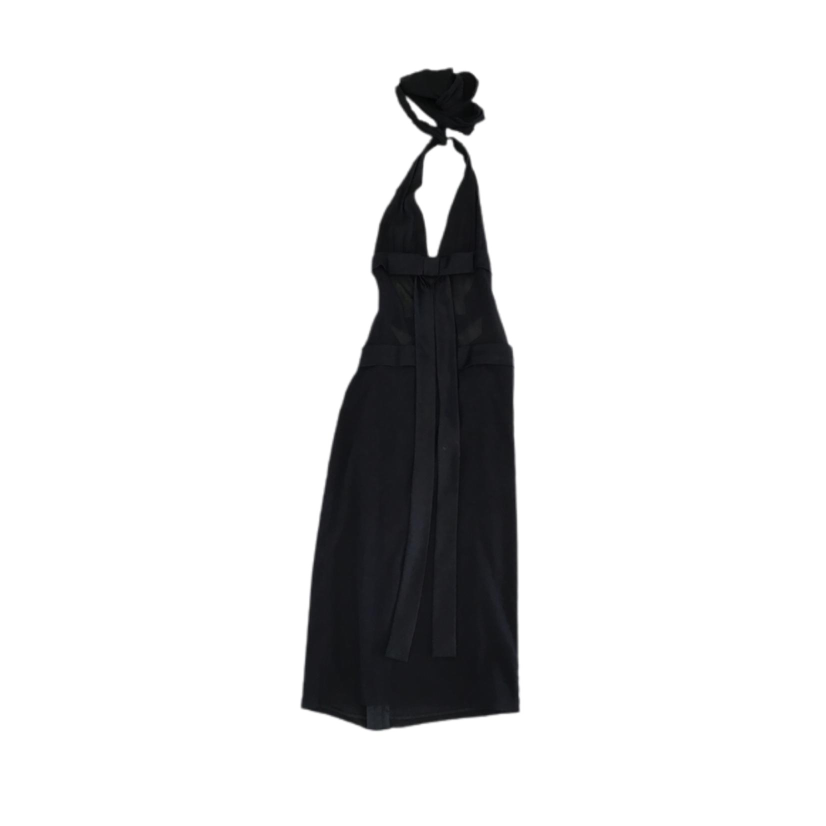 Wyld Blue Vintage Dolce & Gabbana Black Halter Dress