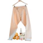 Arjé Teo Drop Crotch Crinkled Cotton Pants