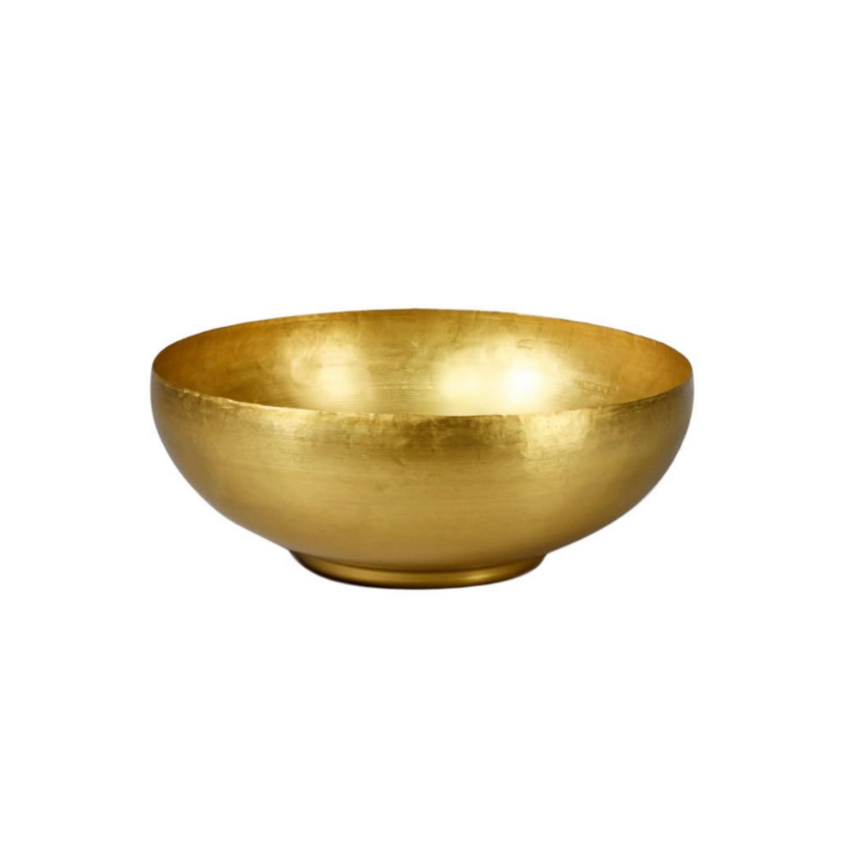 Wyld Blue Home Antique Raw Brass Bowl