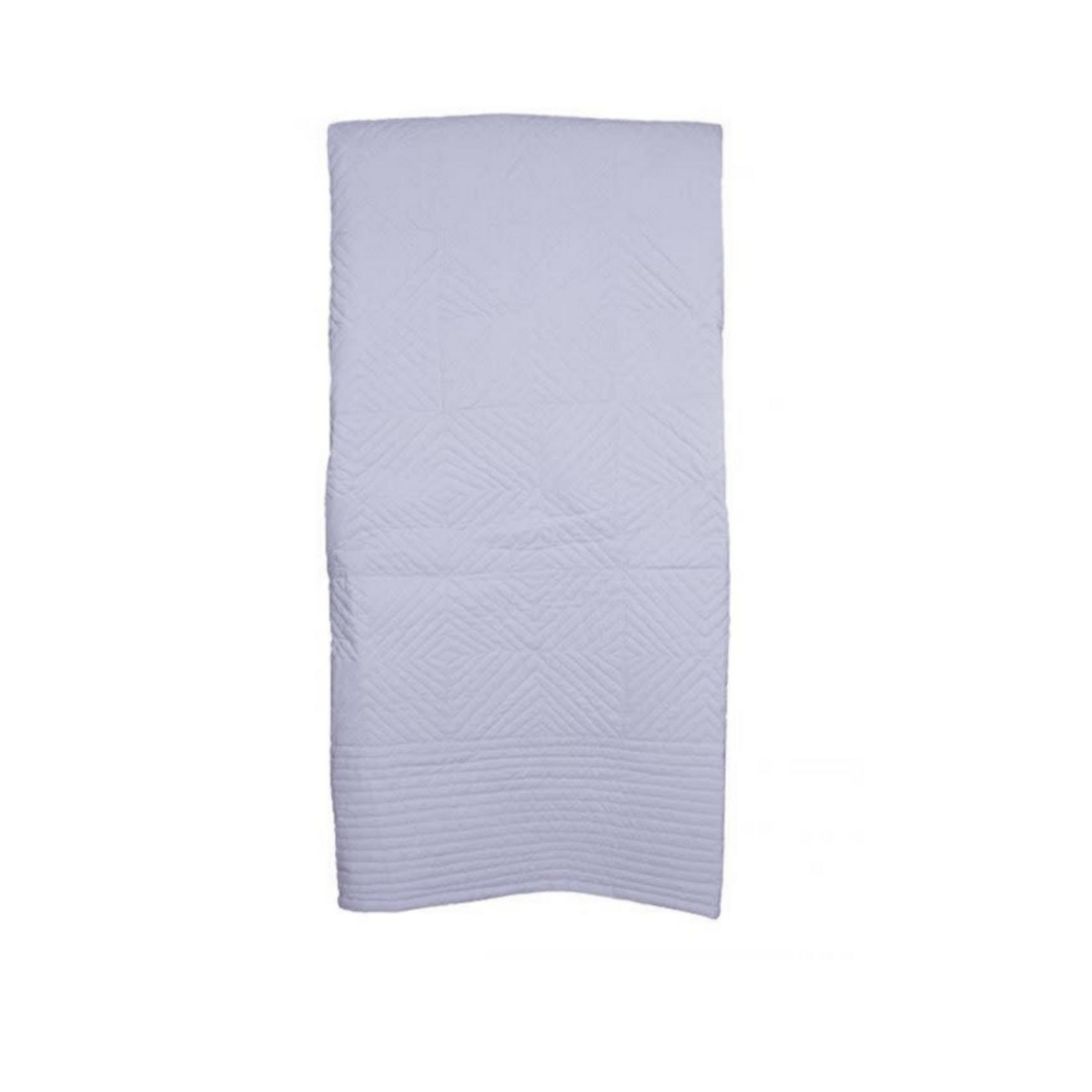 Wyld Blue Home White Applique Quilt