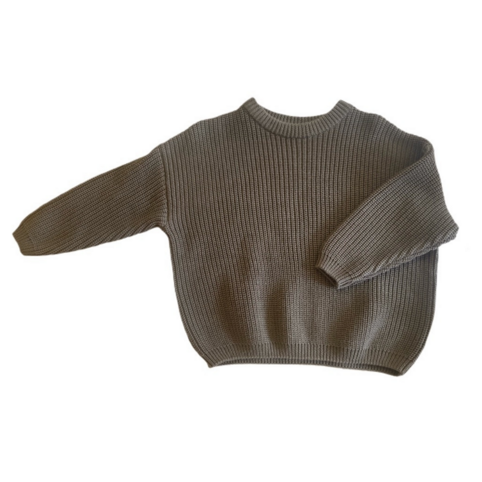 Wyld Blue Kids Simple Sweater Olive Green
