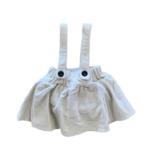 Wyld Blue Kids Cream Chord Overall Skirt