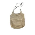 Wyld Blue Woven Shoulder Bag - Sage Trim