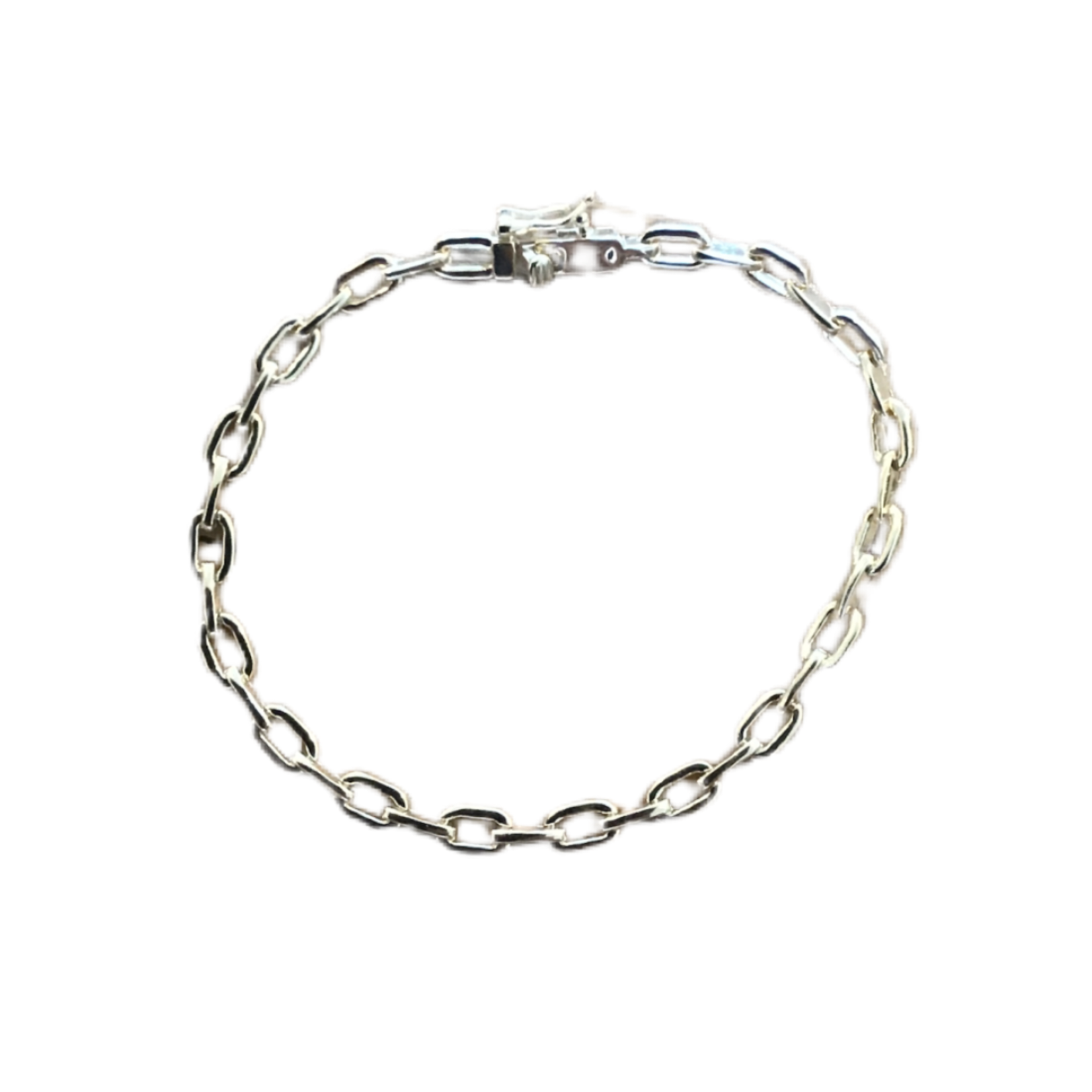 Wyld Blue Gold Link Chain Bracelet