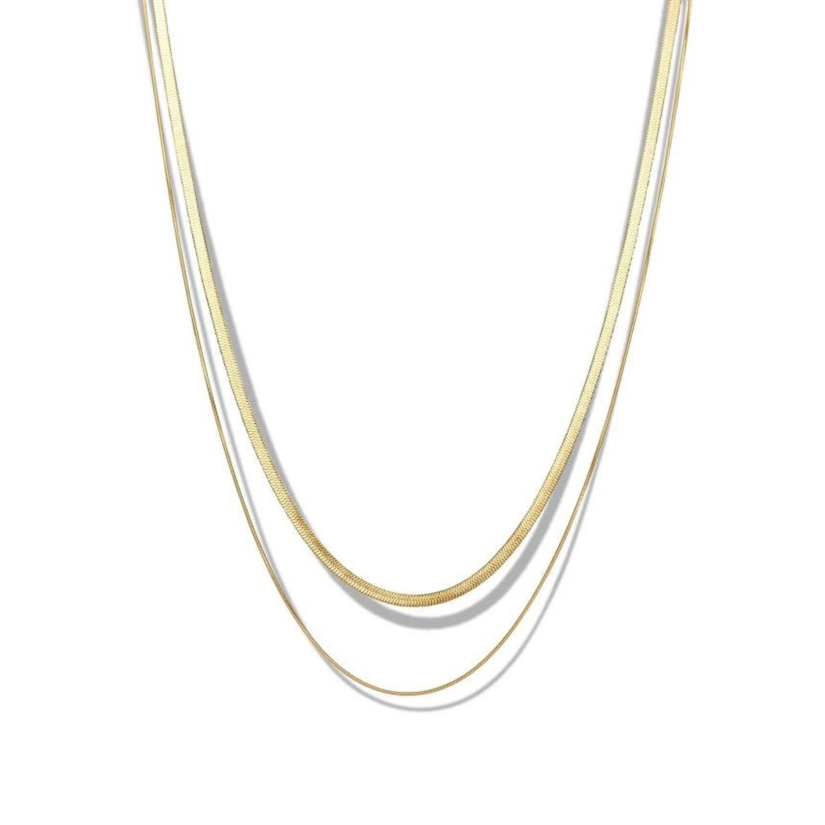 Simplicité Double Python Necklace