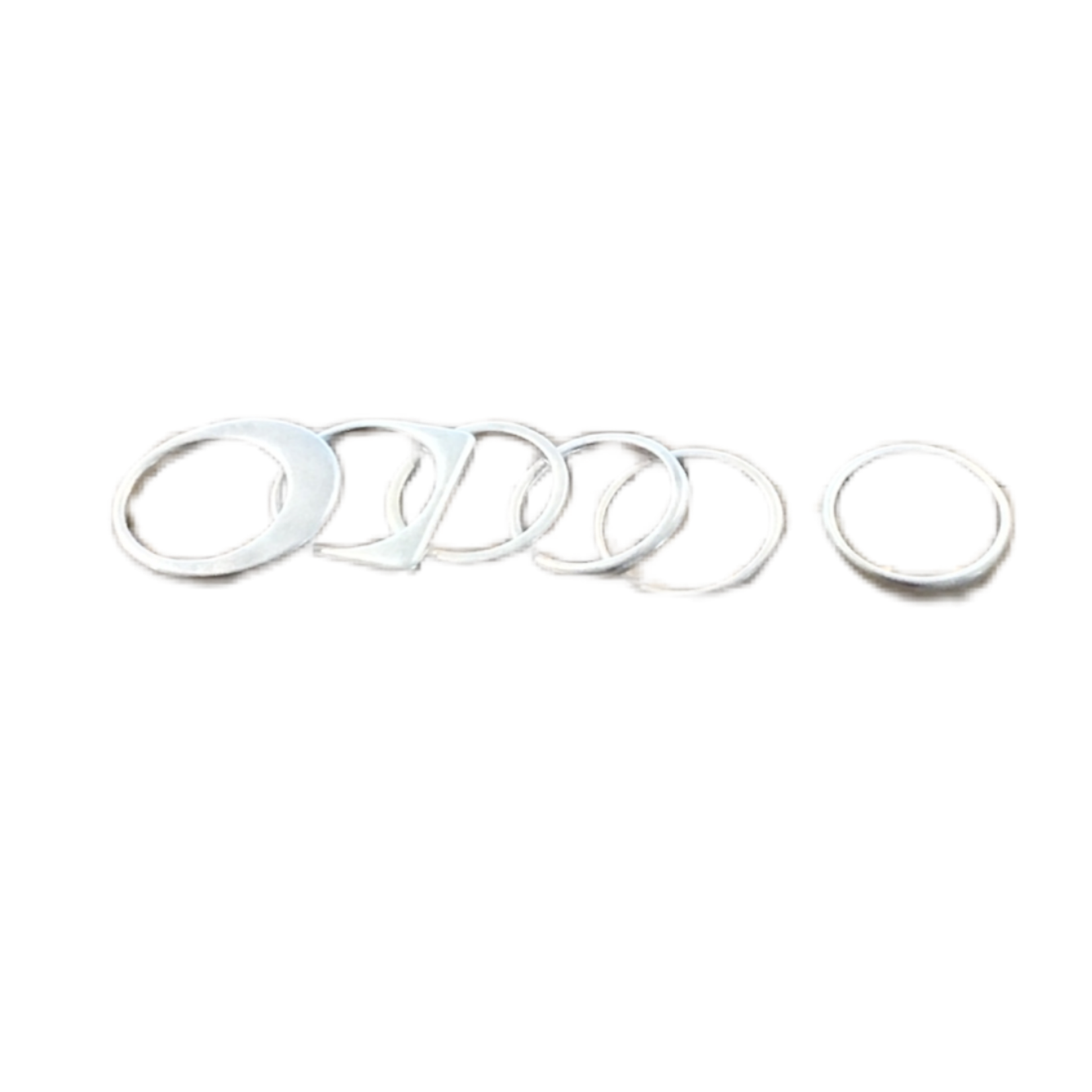 Wyld Blue Silver Stackable Ring