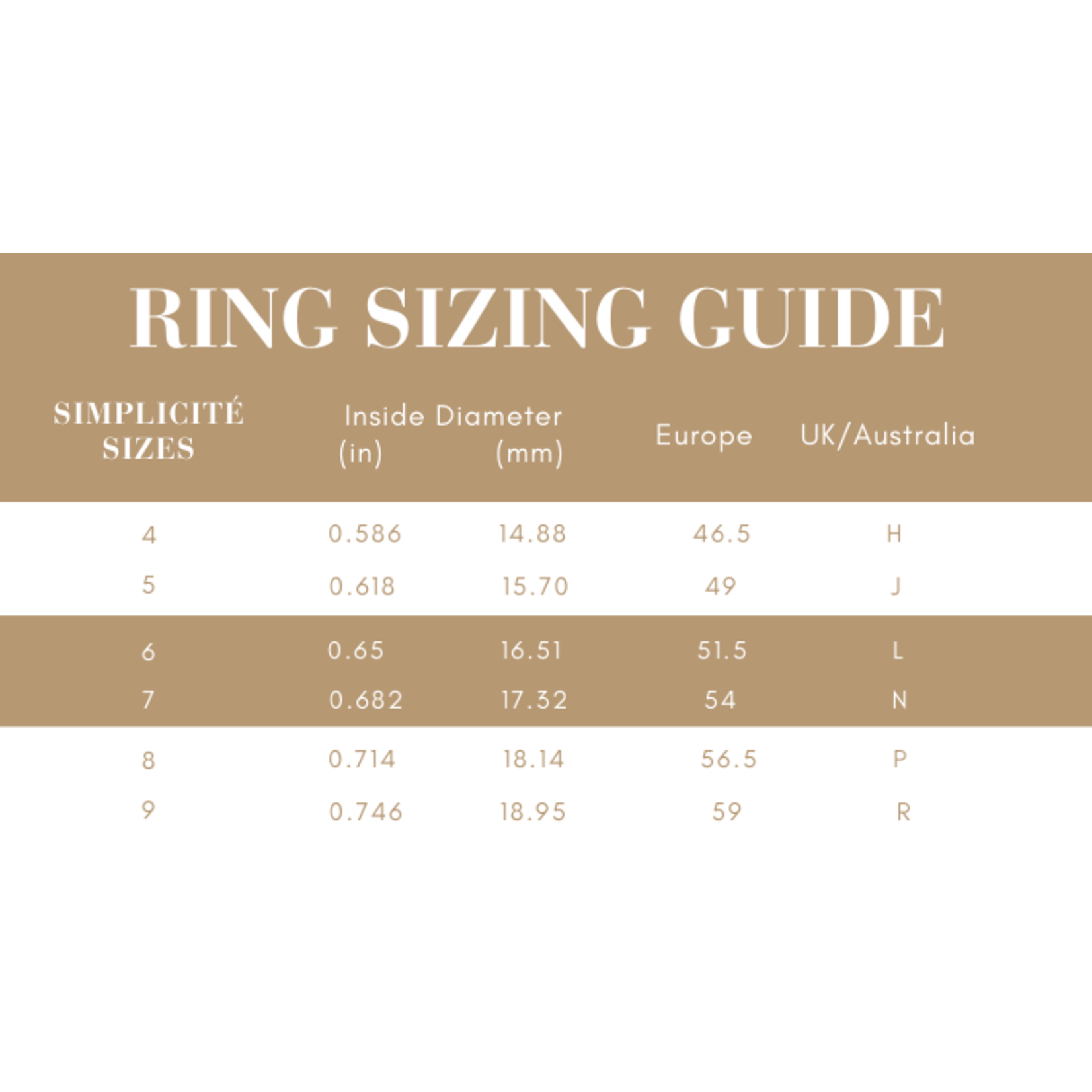 Simplicité Golden Hour Ring