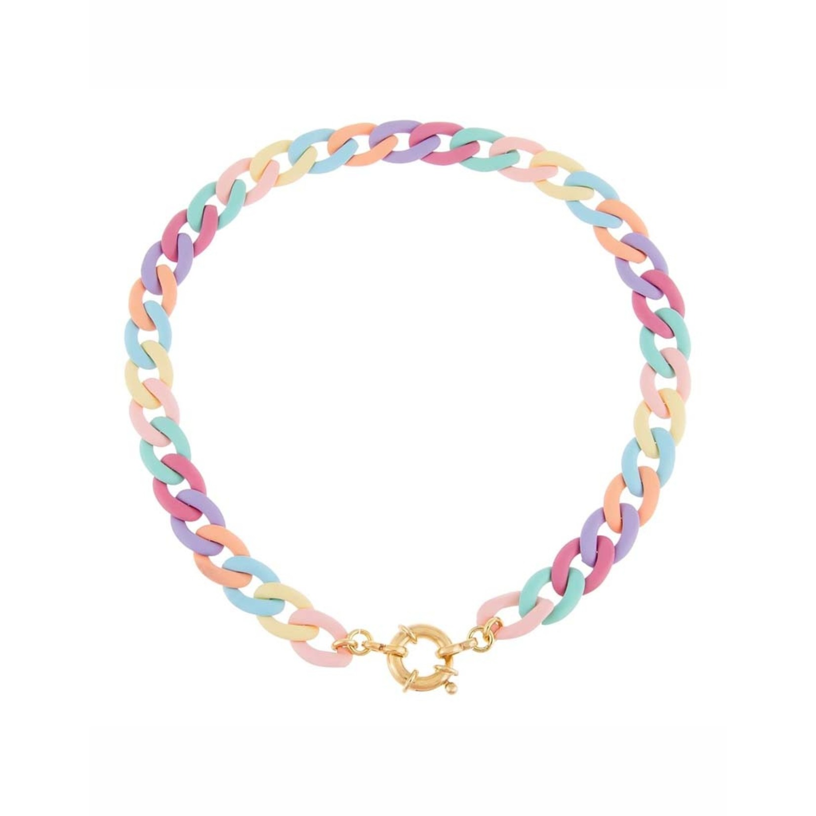 Adinas Pastel Colored Chain Link Toggle Choker