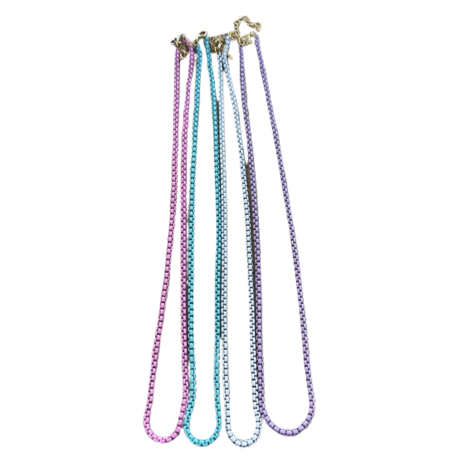 Wyld Blue Pastel Box Chain Necklace