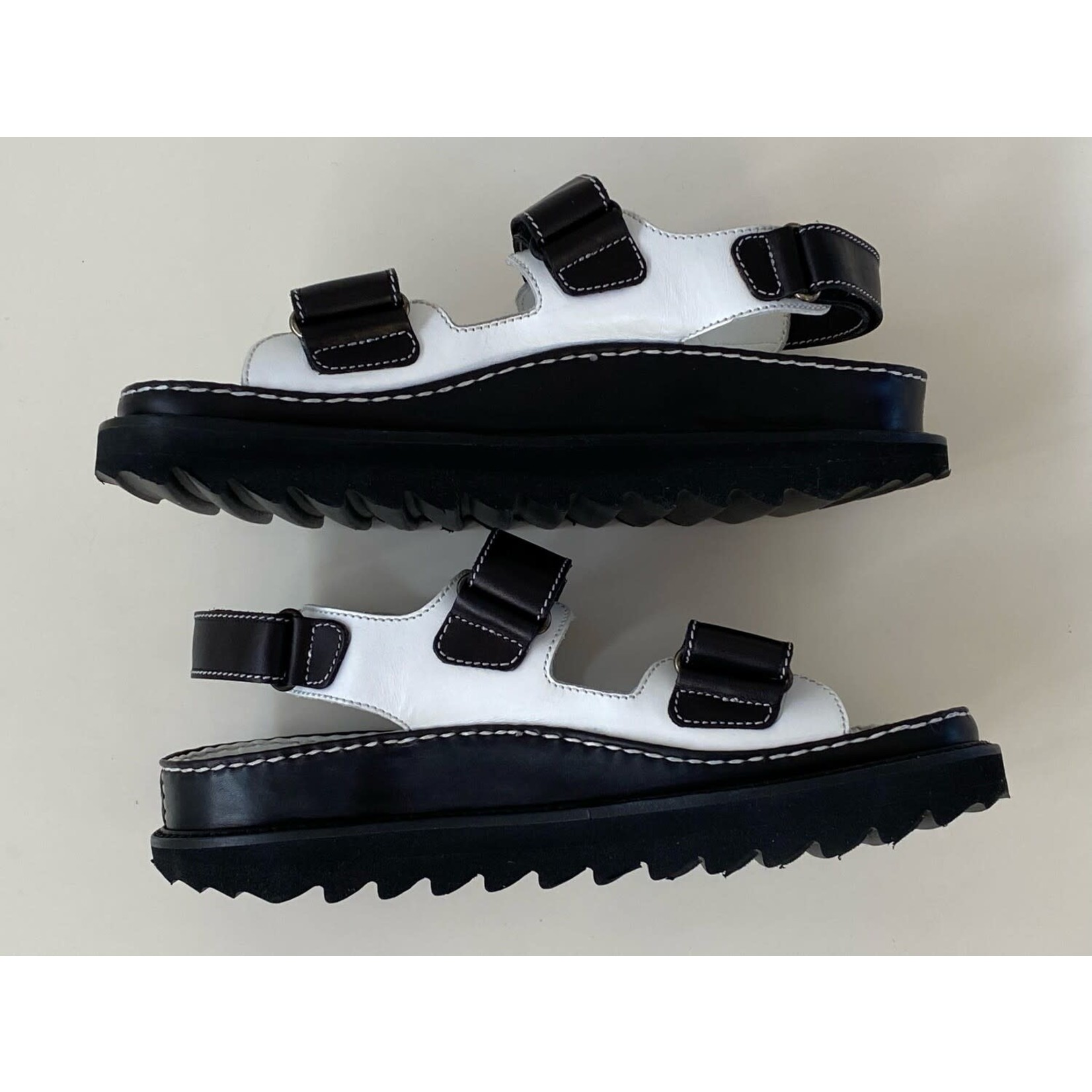 Wyld Blue Vintage Chanel Vintage CC Logo Dad Velcro Birkenstock Sport Sandals NEW Sz 38