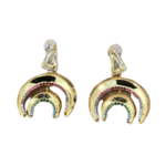Nicole Romano Gold Rainbow Crystal Nested Crescent Earrings