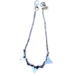Nicole Romano Oxidized Silver Triple Wrapped Triangle Necklace