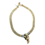 Nicole Romano Antiqued Gold Rock Mold Necklace
