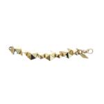 Nicole Romano Antiqued Gold Hexagon Stud Bracelet