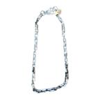 Nicole Romano Oxidized Silver Hand-Linked Box Chain Necklace