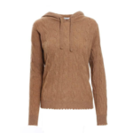 Minnie Rose Cashmere Cable Hoodie Nutmeg