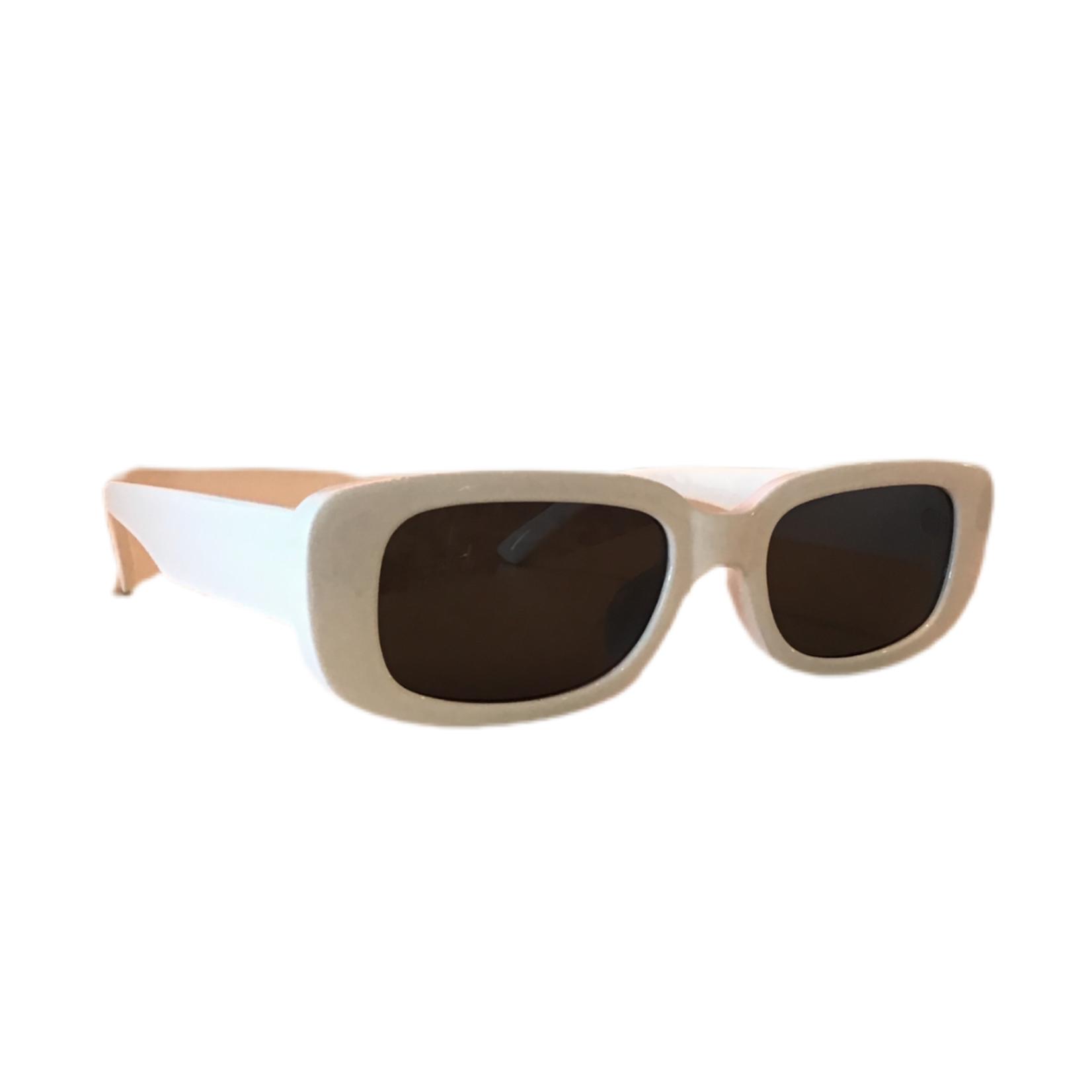 Wyld Blue White Square Frame Sunglasses