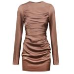 SHONA JOY Long Sleeve Ruched Mini Dress Lily