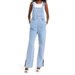 Shop WeWoreWhat Slouchy Slit Overalls