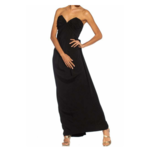 Wyld Blue Vintage 1980s GIVENCHY Black Haute Couture Silk Crepe Strapless Gown