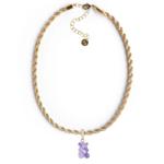 Adriana Pappas Crystal Gummy Bear Charm Necklace
