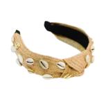 Adriana Pappas Shell Headband Natural