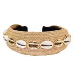 Adriana Pappas Shell Headband Natural Wide