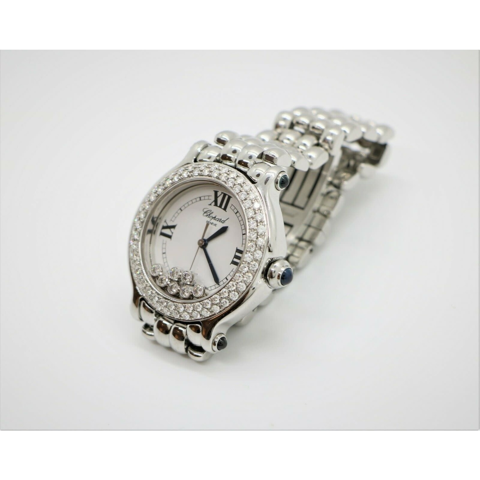 Wyld Blue Vintage Chopard White Gold Diamond Watch