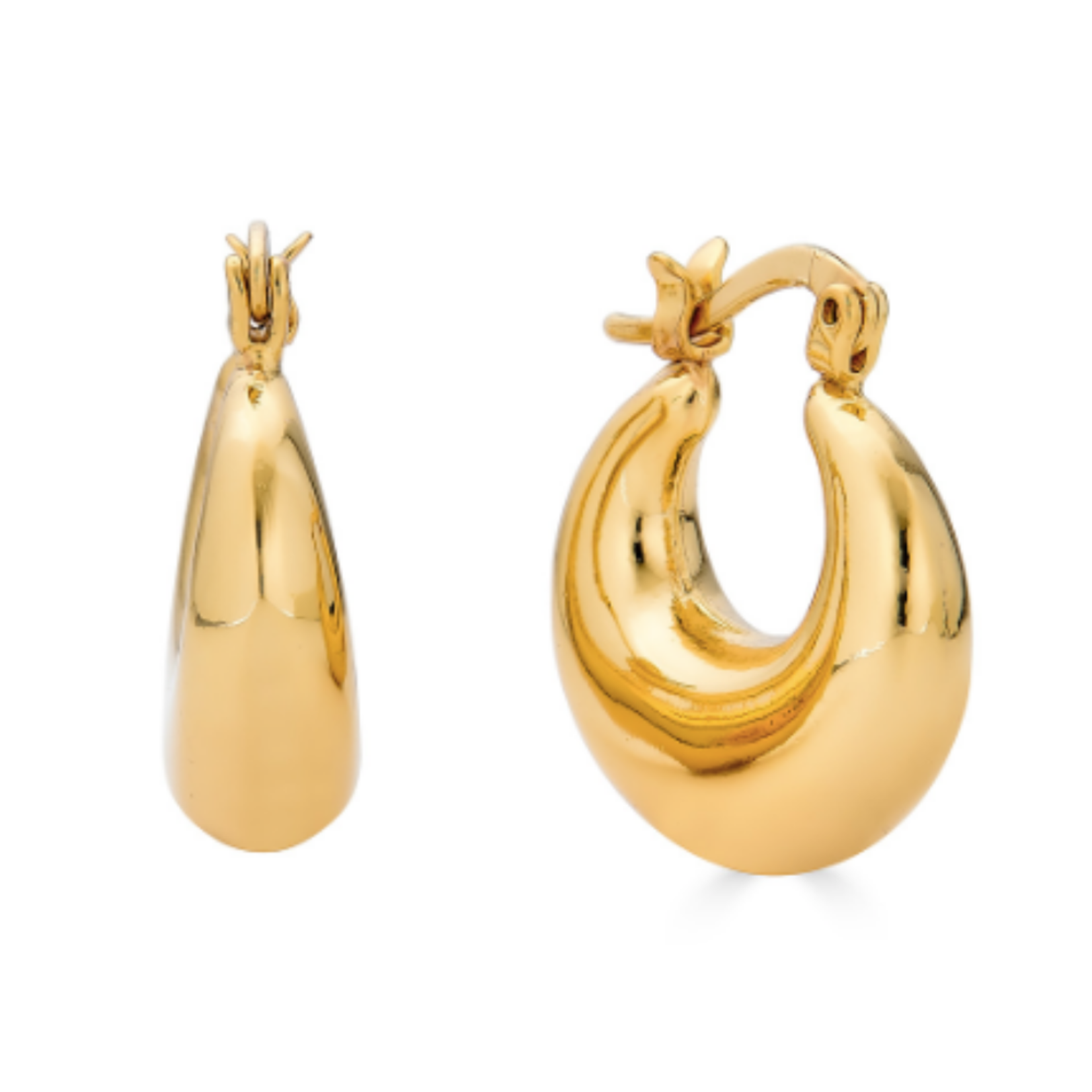 Rendor Large Nicole Hoop - Yellow Gold