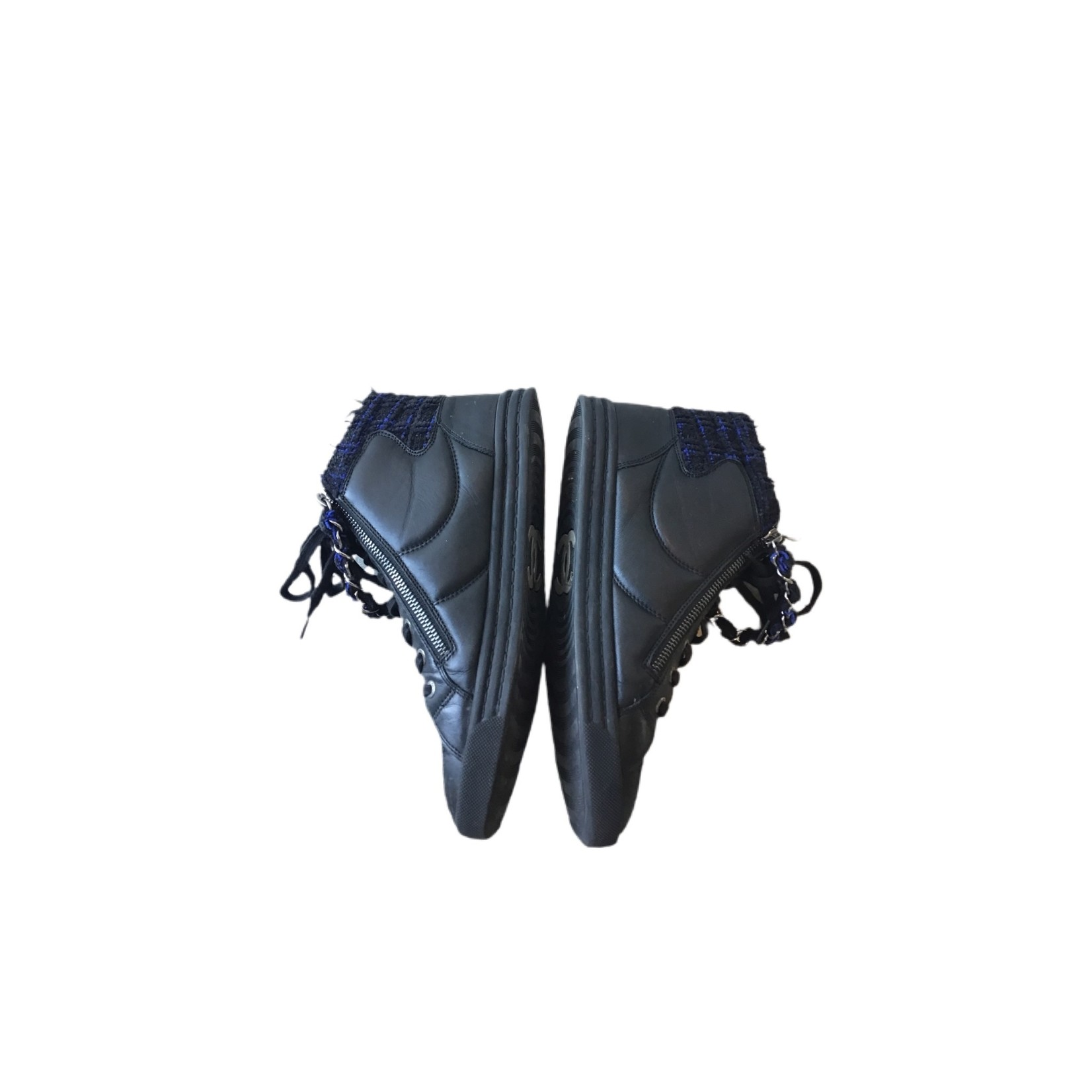 Wyld Blue Vintage Black Chanel High Top Sneakers