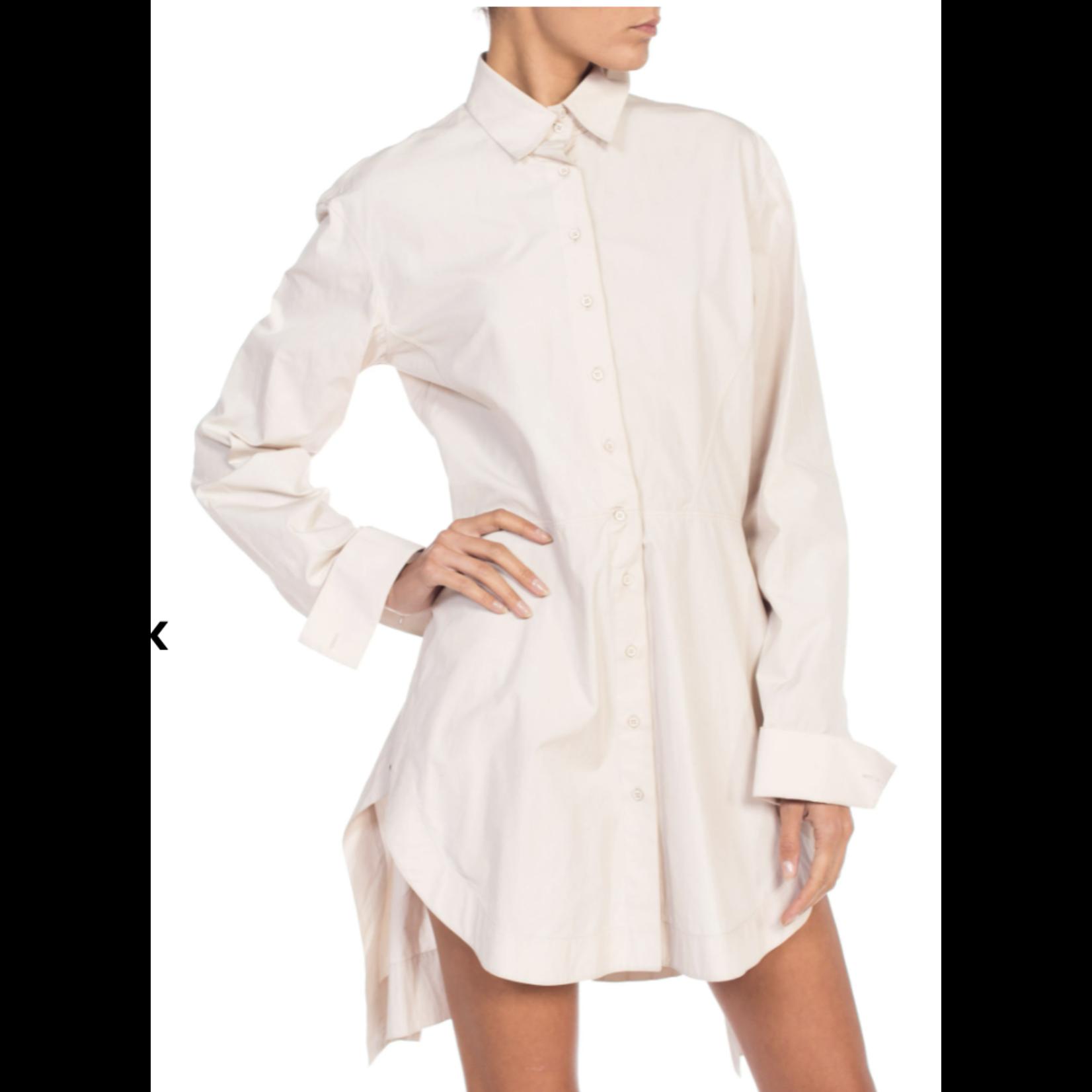 Morphew 1990s Azzedine Alaia Ecru Cotton Shirt Dress